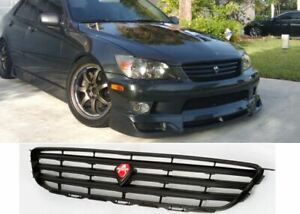 For 01 05 Lexus Is300 Horizontal Bar Front Grille Abs Grill Black Altezza Jdm