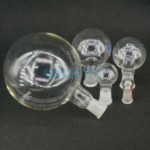 5 5000ml Quickfit Multiple Joint Lab Glass Flask Round Bottom Single Short Neck