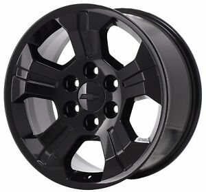 18 Chevrolet Silverado Z71 1500 Truck Black Wheel Rim Factory Oem 5647