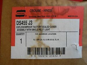 Crouse hinds Ds455 j3 Explosion Proof Assembly W Single Pilot Light