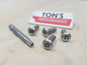 Acura Security Anti Theft Luxury Auto License Plate Screws Stainless Steel Bolts