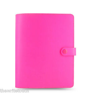 Filofax Original Organizer planner Fluoro Pink A5 Made Uk Brand New 022439