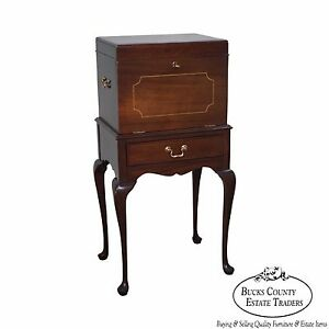 Heirloom Furniture Mahogany Queen Anne Silver Chest