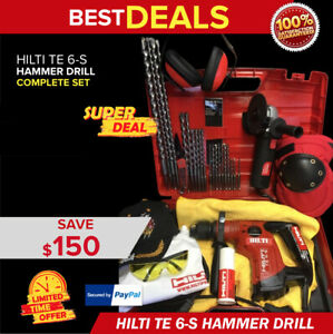 Hilti Te 6 s Rotary Hammer Preowned Free Grinder Bits Extras Fast Ship