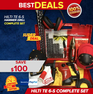 Hilti Te 6 s Rotary Hammer Preowned Free Thermo Bits Extras Quick Ship