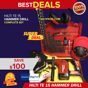 Hilti Te 15 Hammer Drill Preowned Free Smart Watch Bits More Fast Ship