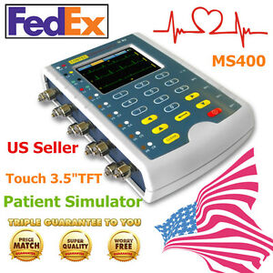 Usa ms400 Patient Simulator ecg Resp Temp Ibp Simulation Monitor Accuracy touch