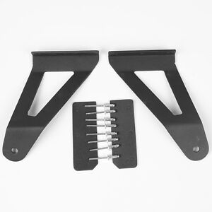 04 14 Ford F150 52 Inch Curved Led Light Bar Upper Windshield Mounting Brackets