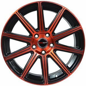 4 Gwg Wheels 18 Inch Red Mod Rims Fits Mitsubishi Lancer Evolution 2008 2015