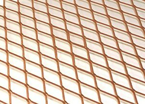 Copper Expanded Metal 14 Width Sold By The Linear Foot free 48 State Ship