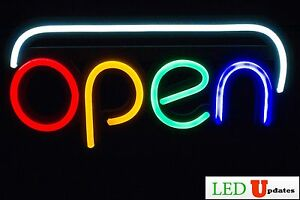 Ledupdates Open Led Sign 20 x10 With On off Switch Ul Power Supply