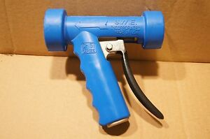 Heavy duty Aluminum Wash down Hose Nozzle W 1 2 Npt Female Port Blue