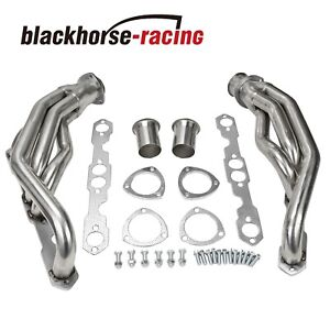 For Chevy Gmc 5 0 5 7 V8 C k Stainless Racing Header Exhaust Manifold 88 97
