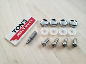 Bmw Security Anti Theft Auto License Plate Screws Stainless Bolts Chrome Caps