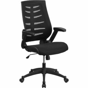 High Back Black Designer Mesh Executive Swivel Office Chair With Height Adjustab