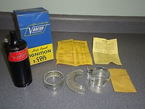 New Nos Vintage Varcon High Speed Universal 12 Volt Ignition Coil 1933 1947