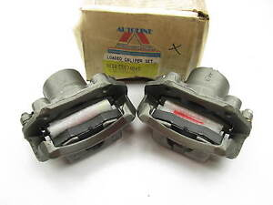 Reman Front Brake Caliper Set W Pads For 1986 1996 Nissan D21 Pickup Rwd Only