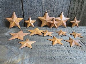 150 Pc Lot Rusty Stars 100 2 25 And 50 1 5 Primtive Country Metal Barn Stars