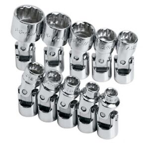 10 Piece 1 4 Drive 12 Point Sae Flex Socket Set Skt4935 Brand New