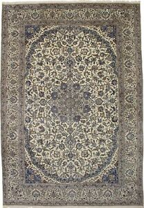 Magnificent Palace Size Hand Knotted Nain Persian Rug Oriental Area Carpet 13x19