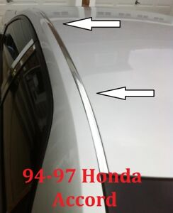 For 1994 1997 Honda Accord Chrome Roof Trim Molding Kit