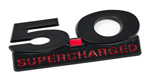 2011 2014 Mustang Gt Black Red 5 0 Supercharged Fender Emblem W Accent Badge
