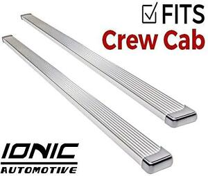 Ionic Billet Brite Fits 2009 2013 Dodge Ram Crew Cab Running Boards Steps Step