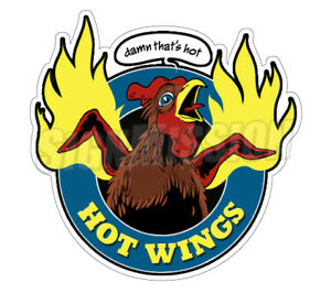Hot Wings Concession 36 Decal Buffalo Chicken Sauce Sign Cart Trailer Sticker
