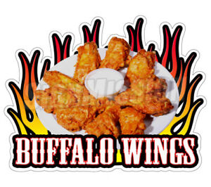 Buffalo Wings Concession 36 Decal Chicken Menu Sign Hot Cart Trailer Sticker