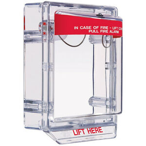 Fire Alarm Cover W Clear Spacer Pull Station Protective Shield School Hospital