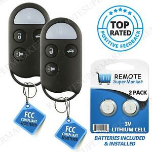2 Replacement For 1995 1999 Infiniti I30 Nissan Maxima Remote Entry Car Key Fob