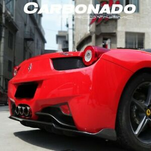 2010 2014 Ferrari 458 Italia Av Style Carbon Fiber Rear Diffuser Lip Body Kit