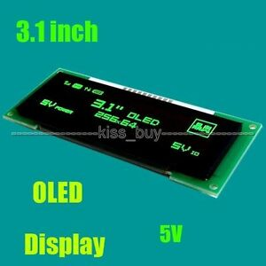 3 1 Inch Oled Lcd Screen 256x64 Oled Display Module Spi 5v F Arduino R3 Green