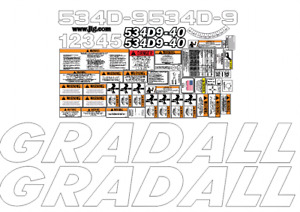Gradall 534d9 40 Decal Kit 0544001 To 0644118