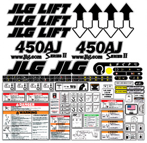 Jlg 450aj Seriesii Boom Lift Decal Kit Sn Prior To 0300069155