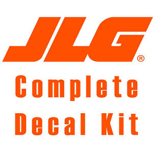 Jlg G10 55a Telehandler Complete Decal Kit