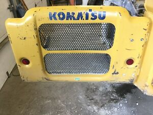 Komatsu Sk1026 5 Skid Steer Rear Door W grille Hinges P n 37c 69 11610