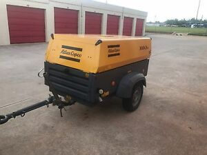Air Compressor Atlas Copco 2011 Only 1100 Hrs 130 Cfm Diesel Towable Works Good