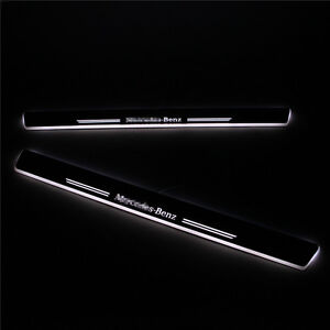 Led Door Sill For Mercedes Benz W204 C200 2008 2013 Led Door Scuff Plate Pedal