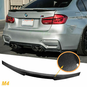 For 2015 2019 Bmw F82 M4 V Evo Carbon Fiber Deck Lid Trunk Spoiler