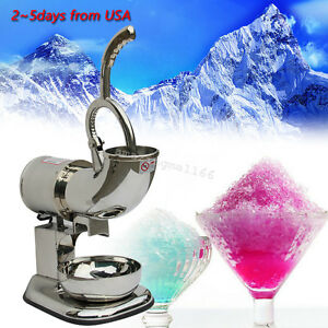 Portable Ice Shaver Machine Snow Cone Maker Shaved Icee Electric Crusher Ups