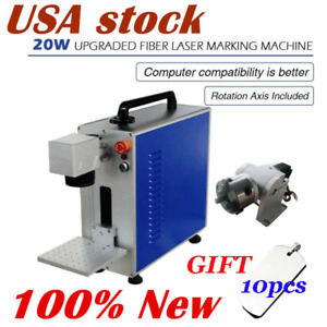 Usa 20w Fiber Laser Marking Engraving Machine For Mental Non mental Material