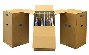 Bankers Box Smoothmove Wardrobe And Moving Boxes 24 X 24 X 40 3 Pack 7711001