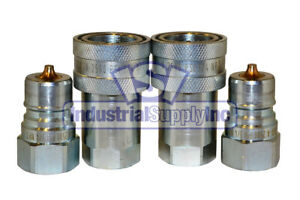Quick Coupler Iso 7241 1 A 3 4 Npt Pipe Threads 6600 Series 2 Pack