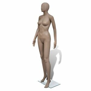 Adult Female Full Size Woman Round Head Store Mannequin W Stand Display Clothes