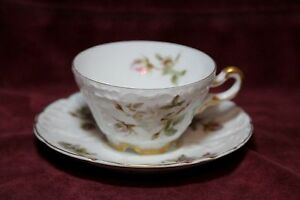 Antique Carl Tielsch C T Demitasse Cup And Saucer Made In Germany C 1878 1895