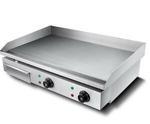 Ce Commercial Electric Grill Griddle Dorayaki Teppanyaki Machine 220v 4 4kw