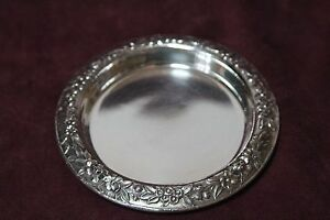 S Kirk Son Repousse Sterling Silver 925 Coaster Dish 24 2 0 Oz