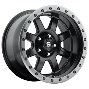 Fuel Trophy Rim 18x10 5x5 Offset 24 Black Anthracite Ring Qty Of 4