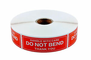 30 Rolls 1 X 3 Do Not Bend Handle With Care Stickers 1000 Per Roll